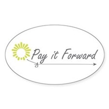 Pay It Forward Oval Decal