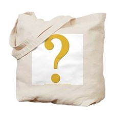"Gold Quest Tote Bag (bag w/ gold ""?"" and gold ""!"")"