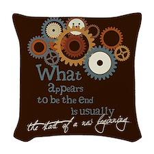 New Beginning Woven Throw Pillow
