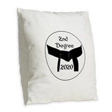 Martial Arts 2Nd Degree Black Belt Burlap Pillow