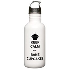 Keep Calm and Bake Cup Water Bottle