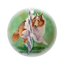 Sheltie Agility Ornament (Round)