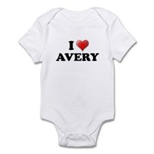 I LOVE AVERY SHIRT T-SHIRT AV Infant Bodysuit