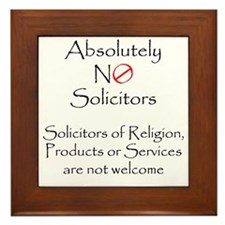 Cute Solicitor Framed Tile