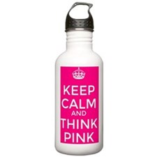 Keep Calm and Think Pi Water Bottle