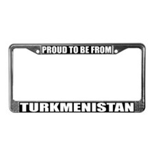 Turkmenistan License Plate Frame