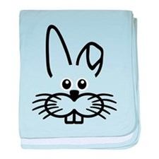 Bunny rabbit face baby blanket