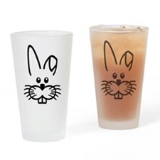 Bunny rabbit face Drinking Glass