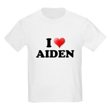 I LOVE AIDEN SHIRT T-SHIRT AI Kids T-Shirt