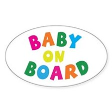 Baby On Board Oval Decal