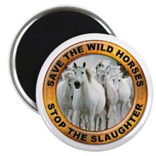 Save Wild Horses Magnet