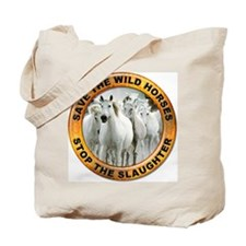 Save Wild Horses Tote Bag
