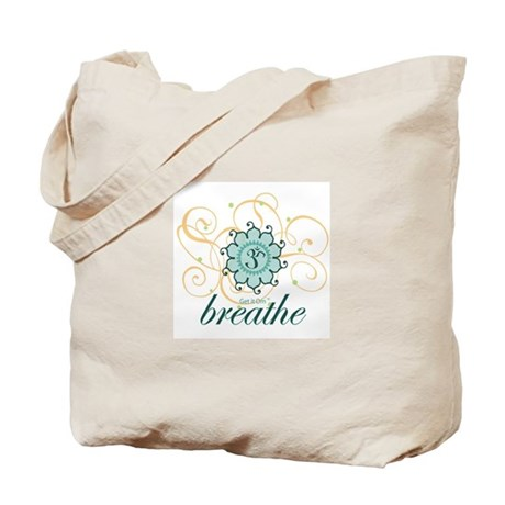 Get it Om. Breathe, Yoga Desi Tote Bag