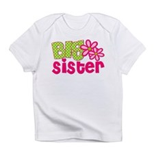 Big Sister Green Dot Infant T-Shirt
