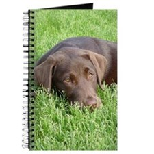 Chocolate Lab Grassmat Journal