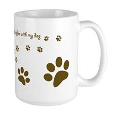 Dog Mug -Happiness is a cup of coffee... Mugs