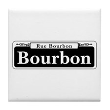 Bourbon St., New Orleans - USA Tile Coaster