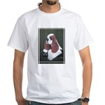 Cocker Spaniel parti colored White T-Shirt