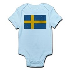 antiqued swedish flag Body Suit