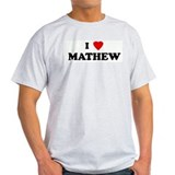 I Love MATHEW Ash Grey T-Shirt