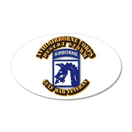Army - DS - XVIII ABN CORPS 35x21 Oval Wall Decal