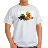 Frog and Ducky friends Ash Grey T-Shirt