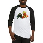 Frog and Ducky friends Baseball Jersey