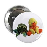 Frog and Ducky friends Button
