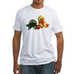 Frog and Ducky friends Fitted T-Shirt