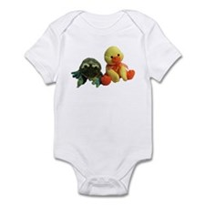 Frog and Ducky friends Infant Bodysuit