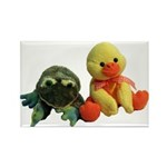 Frog and Ducky friends Rectangle Magnet (10 pack)