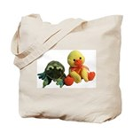Frog and Ducky friends Tote Bag