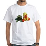 Frog and Ducky friends White T-Shirt