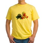 Frog and Ducky friends Yellow T-Shirt