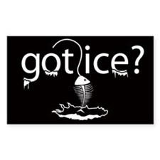 got ice? Ice Fishing Rectangle Decal