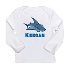 Personalized shark Long Sleeve Infant T-Shirt