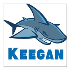 """Personalized shark Square Car Magnet 3"""" x 3"""""""