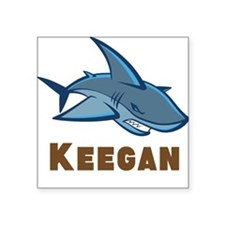 "Personalized shark Square Sticker 3"" x 3"""