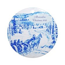 Personalized Delft Like Blue China Ornament