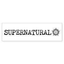 Supernatural Bumper Car Sticker Bumper Car Sticker