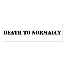 Misha Collins Death To Normalcy Bumper Sticker Bum