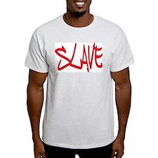 Slave Submissive Ash Grey T-Shirt