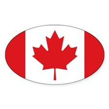 Canada's flag Oval Decal