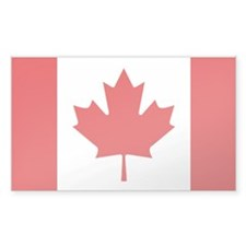 Canada's flag Rectangle Decal