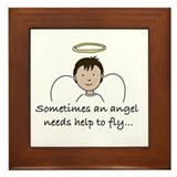 Special Angel Framed Tile