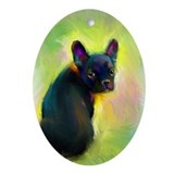 French Bulldog 9 Oval Ornament