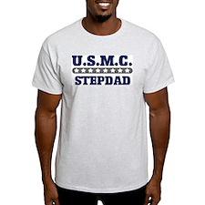 U.S.M.C.  STEPDAD (Marines) Ash Grey T-Shirt