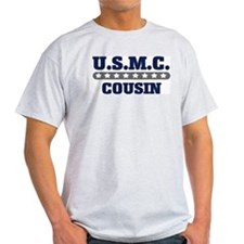 U.S.M.C.  COUSIN (Marines) Ash Grey T-Shirt