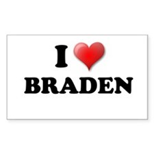 I LOVE BRADEN SHIRT TEE SHIRT Sticker (Rectangular
