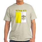 Vatican City Flag Ash Grey T-Shirt